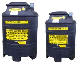 raccolta oli usati